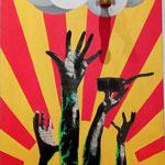 """H2O"", acrylique sur bois, (80x40cm)- Bobo Artist"
