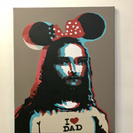 Mickey, acrylique (80x 65cm)- Bobo Artist,