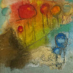 """""""Série 30.III""""- acrylique sur toile- Brigitte Rochas (30X30 cm)"""