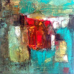 """""""Série 30.V""""- acrylique sur toile- Brigitte Rochas (30X30 cm)"""
