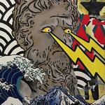 Poséidon, acrylique (80x 65cm)- Bobo Artist