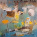 """""""Bateau fantôme""""- Brigitte Rochas, acrylique sur toile """"  (100x 100cm)"""