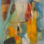 """""""Dame aux cheveux d'or""""- Brigitte Rochas, acrylique sur toile """"  (61x 46cm)"""