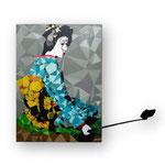 """""""Geisha """"- VENDU- Bobo Artist, technique mixte sur toile (100x73 cm)"""