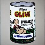 Olive, acrylique (80x 65cm)- Bobo Artist,