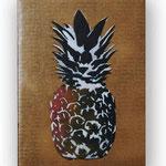 """""""Ananas"""", technique mixte sur carton (30x21 cm)- Bobo Artist"""