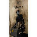 """""""WHERE IS MY FUTURE ?"""" BoBo Artist (200 x 76 cm) /Penser à son futur, c'est être face à un miroir embué ... Notre devenir semble vague."""
