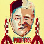 Poker face, acrylique (80x 65cm)- Bobo Artist,