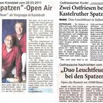 Duo Leuchtfeuer  Präsentation der CD HALLO FREUNDE auf dem Spatzen Open Air in Kasteruth