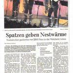 Wetzlarer Neue Zeitung  Dez.2011    gelungene Weihnachtsatmosphäre mit  FÜR EINEN AUGENBLICK im Liveprogramm