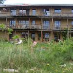 Strohballenhaus im Ökodorf Siebenlinden