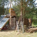 Bau einer Solardusche für den Zeltplatz in Siebenlinden
