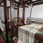 Exposition de deux métiers à tisser manuels, traditionnels de Lanzarote