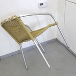 "Ermanno Cristini, ""In order to watch"", 2017, chair found on site, ph. Oldrich Sembera"