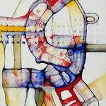 Retrato De Personaje Polimórfico 07 /mixta sobre cartón entelado 42,5x30 cms