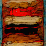 Tercer Misterio /Serie Portales Esotéricos / mixta sobre cartón reciclado 42x30 cms