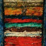 Octavo Misterio   /Serie Portales Esotéricos / mixta sobre cartón reciclado 45x32 cms