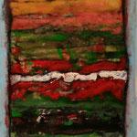 Séptimo Misterio   /Serie Portales Esotéricos / mixta sobre cartón reciclado 42x30 cms