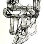 Máscara De La Sumisión  /mixta sobre papel 40,5x29,5  cms