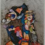 Retrato De Personaje Polimórfico 05  /mixta sobre cartón 42,5x30 cms