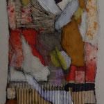 Las Texturas De Los Sueños /mixta sobre cartón 41x29 cms