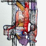 Crucifixión Después De Bacon /mixta sobre cartón 42x28 cms
