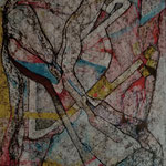Dama Bruma  /mixta sobre cartón 42x30 cms