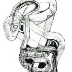 Máscara De la Indecisión /Tinta sobre papel 40,5x29,7