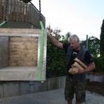 Der Aufbau Pizzaofen