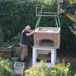 Aufbau Gewölbeofen Pizzaofen