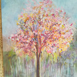 Volle Blüte, Öl, 50 x 70 cm
