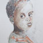 Junge, Aquarell, ca. 35 x 45 cm