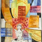 Achtsamkeit, Stifte, Aquarell, 30 x 40 cm
