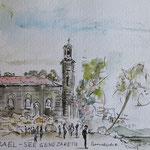 Petrikirche am See Genezareth, Israel, Skizze