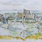 Burg von Richard Löwenherz in der Normandie
