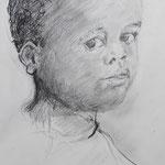 Junge, Bleistift, 30 x 40 cm