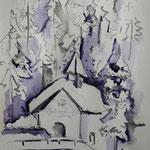 Winter , Aquarell, 30 x20 cm