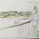 Blick zum LiMeine letzte Skizze im Skizzemnbuch 2019lienstein