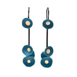 Boucles Coquillages Turquoise et or