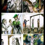 Robin Hood  (Buntstifte & Aquarell auf Papier)