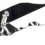 Bob und die Rache des Pharaos, Tusche auf Papier von Caroline Lahusen / Jens Schröder Thienemann Verlag, 2009