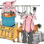 Schweine am Herd, Inspiration Wohnen & Design, Die Zeit, 2006