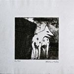 Ohne Titel; Serie: 1/20 (5 verbleibend); Technik: Radierung; Datum: Juli 1987 Format (HxB): 26,5 x 31 cm