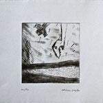 Ohne Titel; Serie: 1/20 (5 verbleibend); Technik: Radierung; Datum: Juli 1987 Format (HxB): 26 x 30 cm