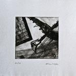 Ohne Titel; Serie: 1/20 (3 verbleibend); Technik: Radierung; Datum: Juli 1987 Format (HxB): 26 x 31 cm