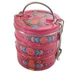 Floral Pink Trevisan, com três compartimentos em alumínio; da Varanda