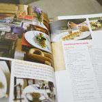No livro há diversas sugestões de receitas para petiscos, entradas, pratos principais e sobremesa