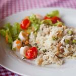 Bacalhau com arroz ao forno