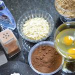 Separando os ingredientes