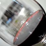 Detalhe do vinho que estava sendo bebido